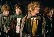 Hobbits no filme Senhor dos Anéis